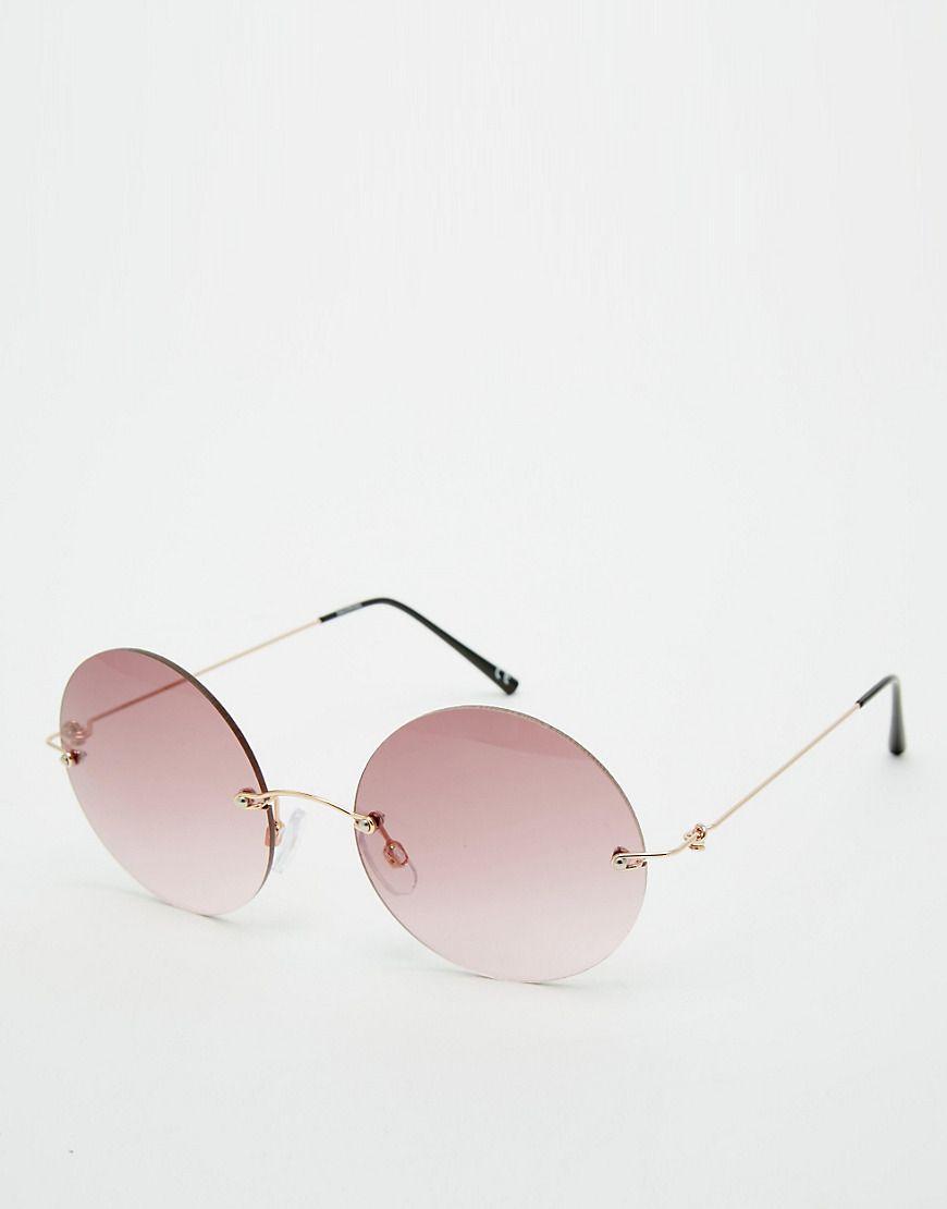 Imagen 1 de Gafas de sol redondas sin montura de ASOS | Lentes ...