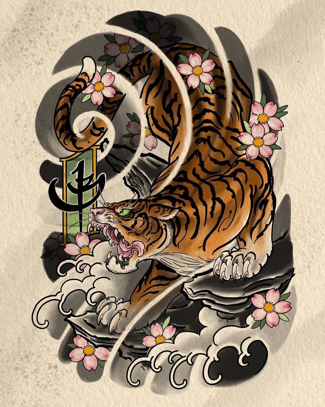 1 221 Me Gusta 4 Comentarios Jbtattoo En Instagram I Made Another Tigger While Out Here Stevestontatt Japanese Art Japanese Tiger Tattoo Japanese Tattoo