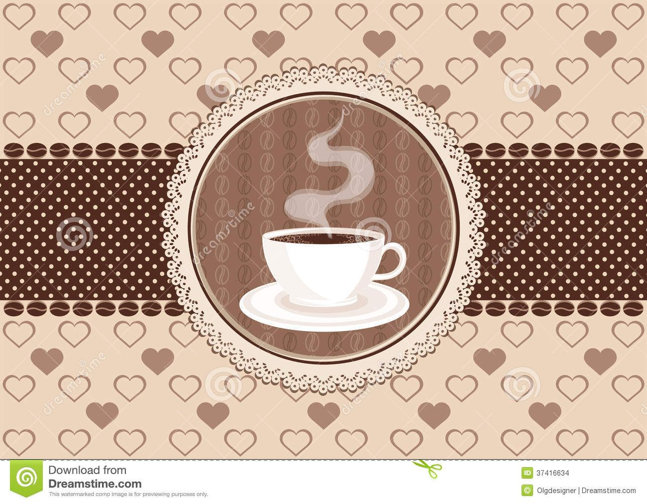 free coffee invitation template invitation card coffee lace frame