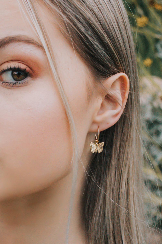 22+ Butterfly Hoop Earrings  Butterfly Charm Earrings