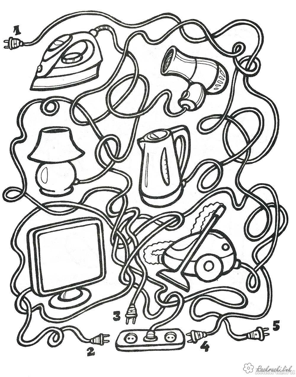 Раскраски Раскраска лабиринт Детская раскраска-лабиринт ...