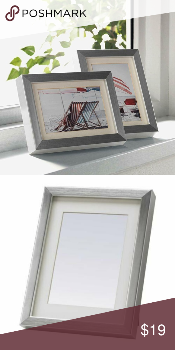 Set Of 2 Ikea Ribba Picture Frame 5 X 7 Silver Nwt Picture Frames Frame Ikea Ribba Frames
