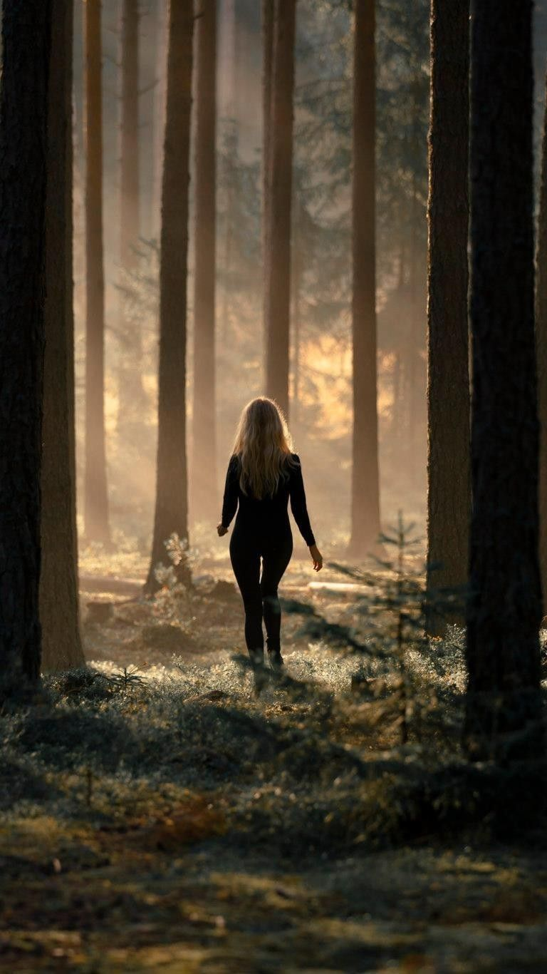 Alone Girl In Forest Wallpaper Iphone Wallpaper Girl In Forest Forest Pictures Woods Photography