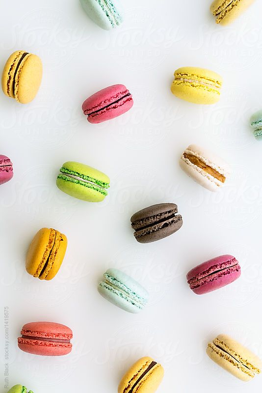 Macaron background by ruth black for stocksy united - Macaron iphone wallpaper ...