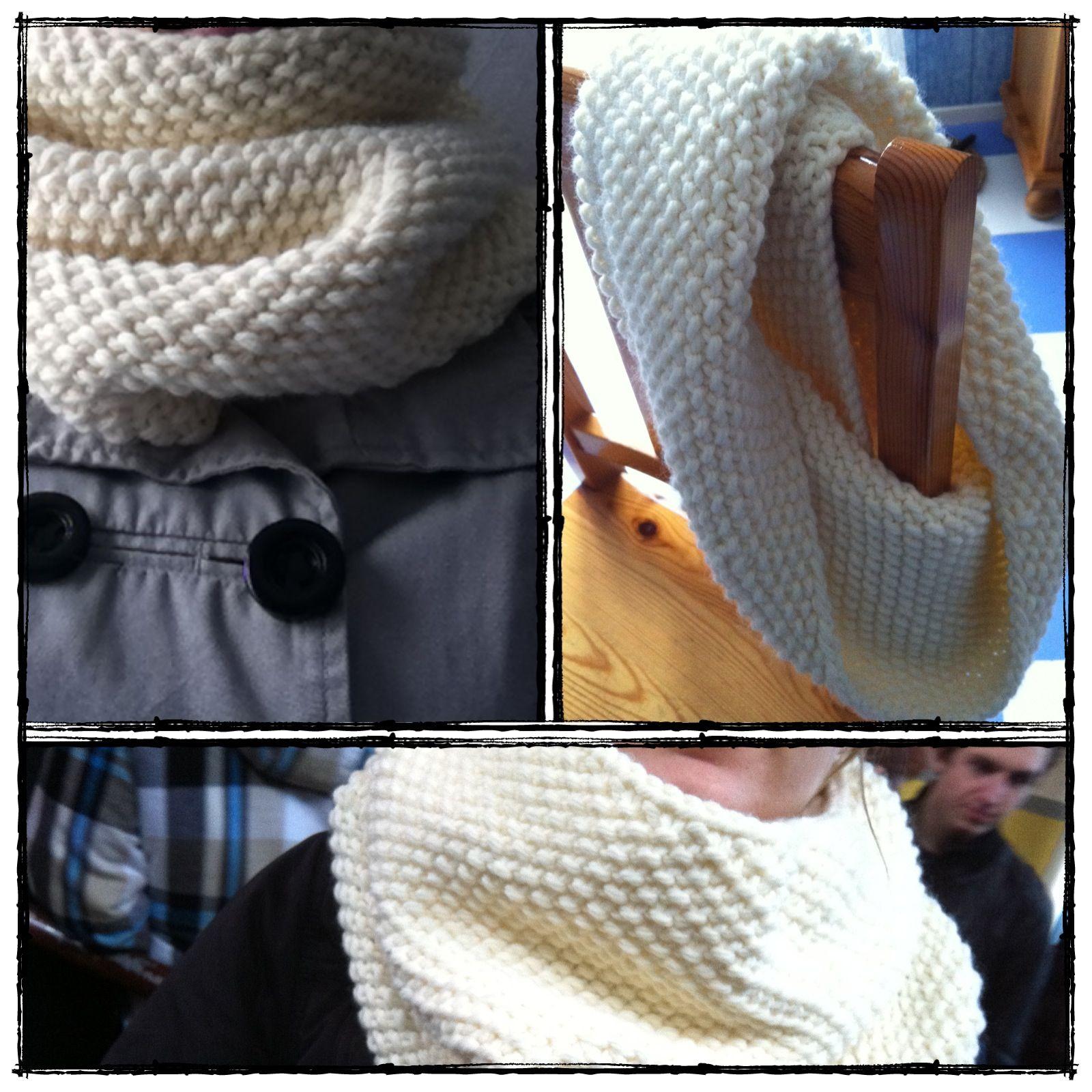 tricoter un snood aiguille 6