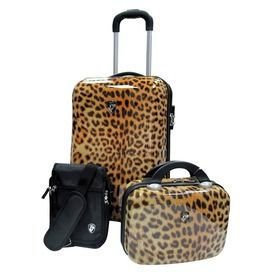 Heys 3 Piece Weekender Luggage Set In Leopard Print Amp Pattern Luggage Sets Travel