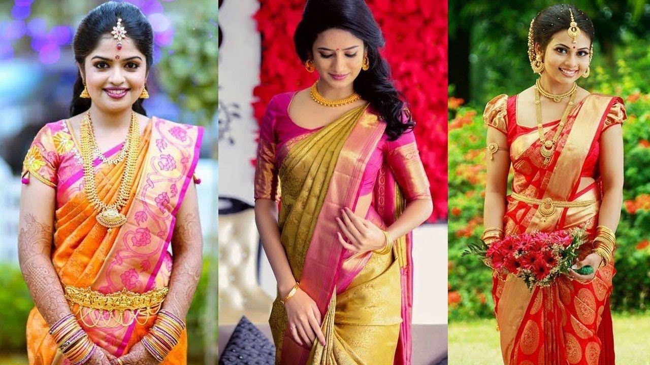 c542179b46b400 #saree #sari #sareedraping #sareewearing #sareedrapingstyles  #howtowearsaree #differentstylesofwearingsare - How to Wear South Indian  Saree in Different ...