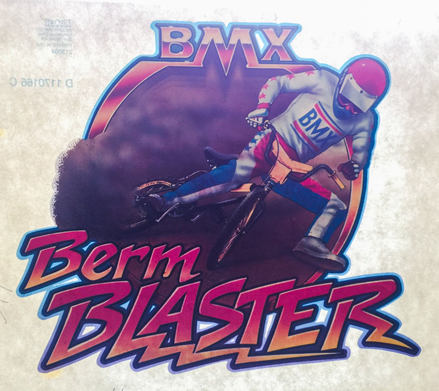 BMX Berm Blaster Vintage Roach Incorporated Iron On Heat Transfer by VintageIronOn on Etsy