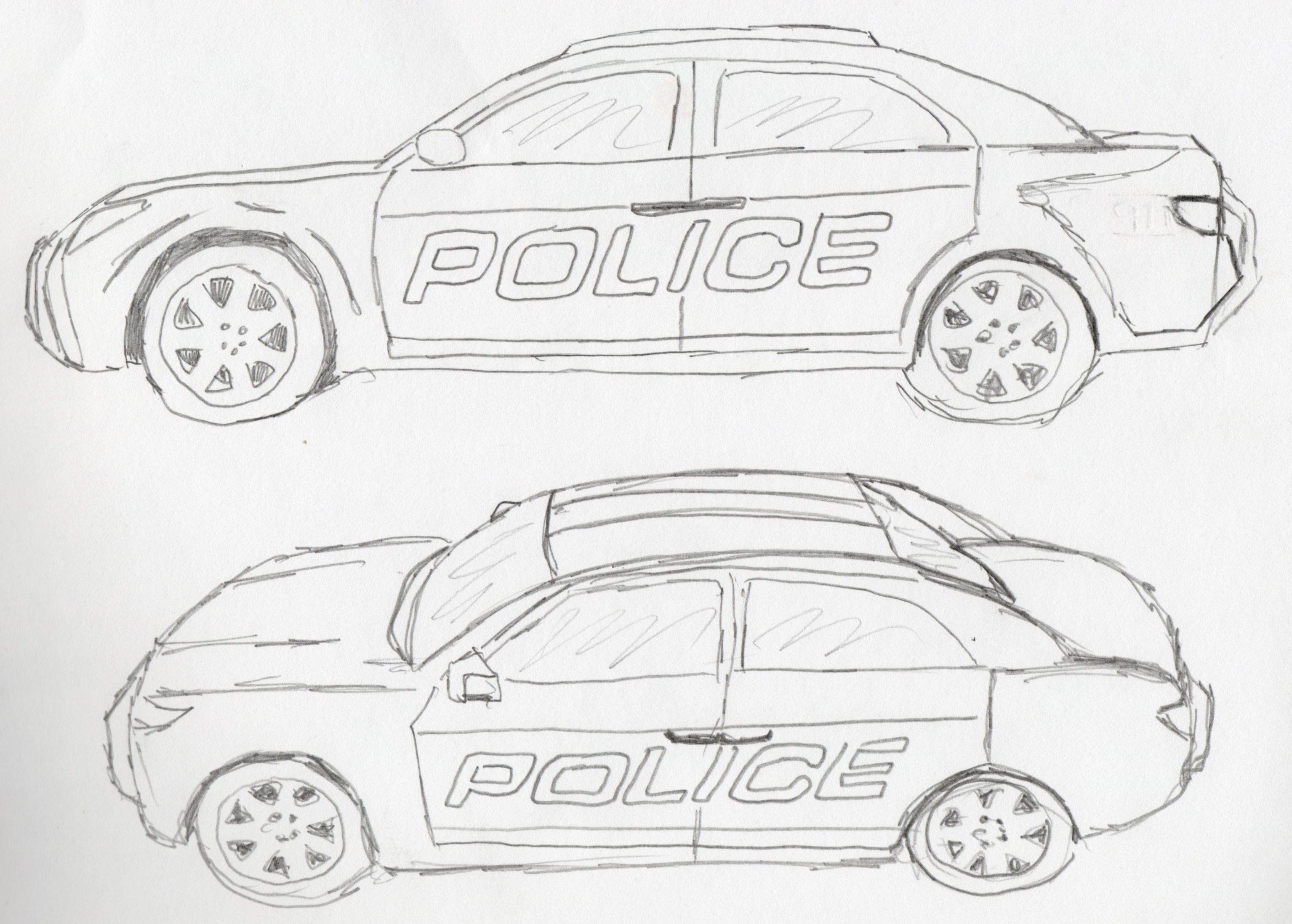 Sketch Of Police Car Policecar2 Police Cake In 2019 Car