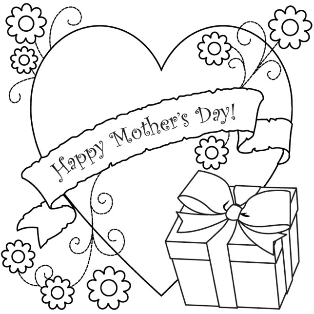 Mother S Day Coloring Page Gift Coloring Book Mother S Day Colors Mothers Day Coloring Sheets Mothers Day Pictures