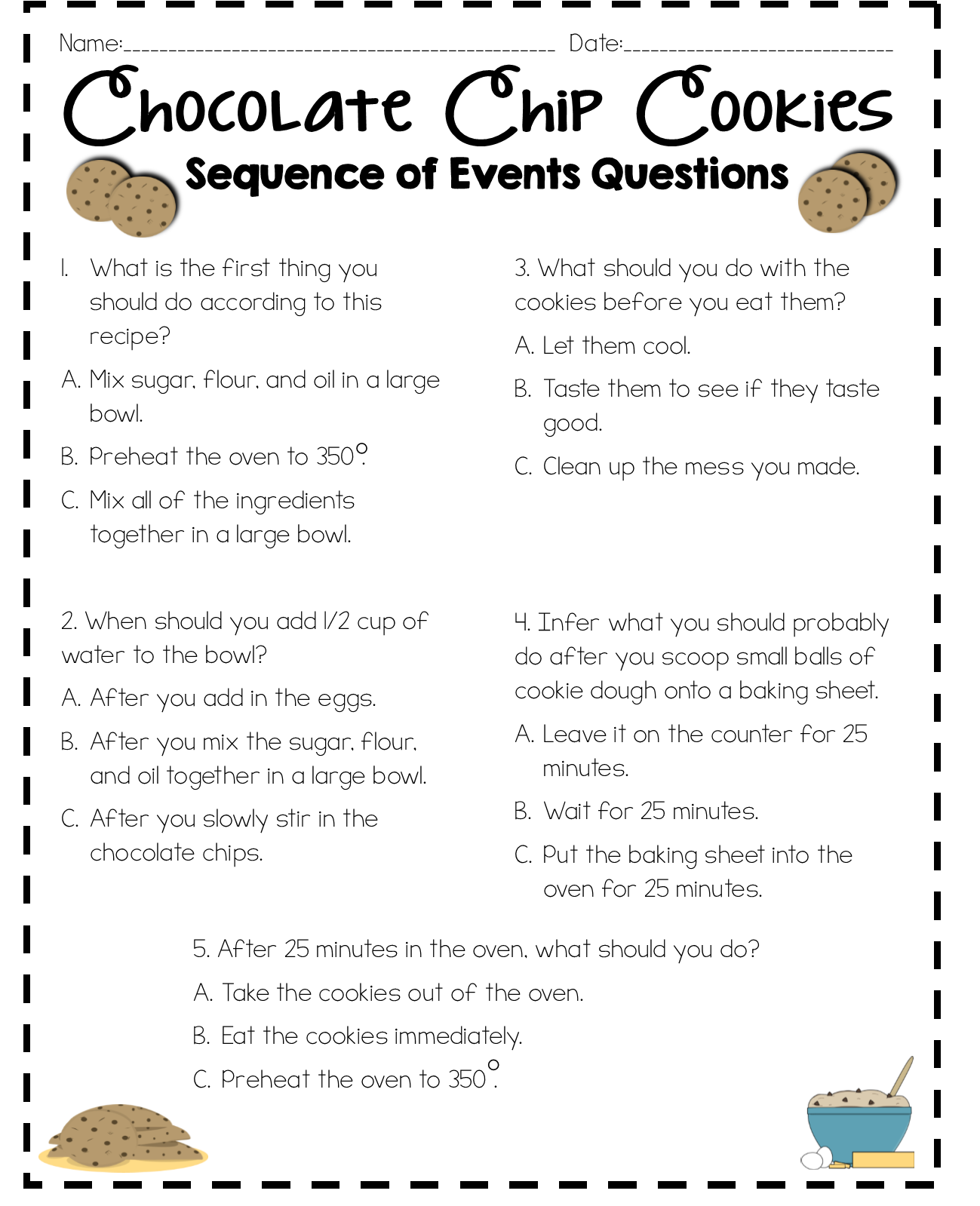 Sequence of Events My students were really struggling with sequence of  events. We focused on …   Sequence of events worksheets [ 1599 x 1299 Pixel ]