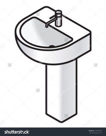 bathroom sink clipart the bathroom has come along way in the rh pinterest com sick clip art images sick clip art