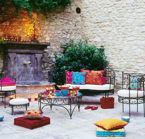inspirant salon de jardin marocain | Décoration française | Salon de ...