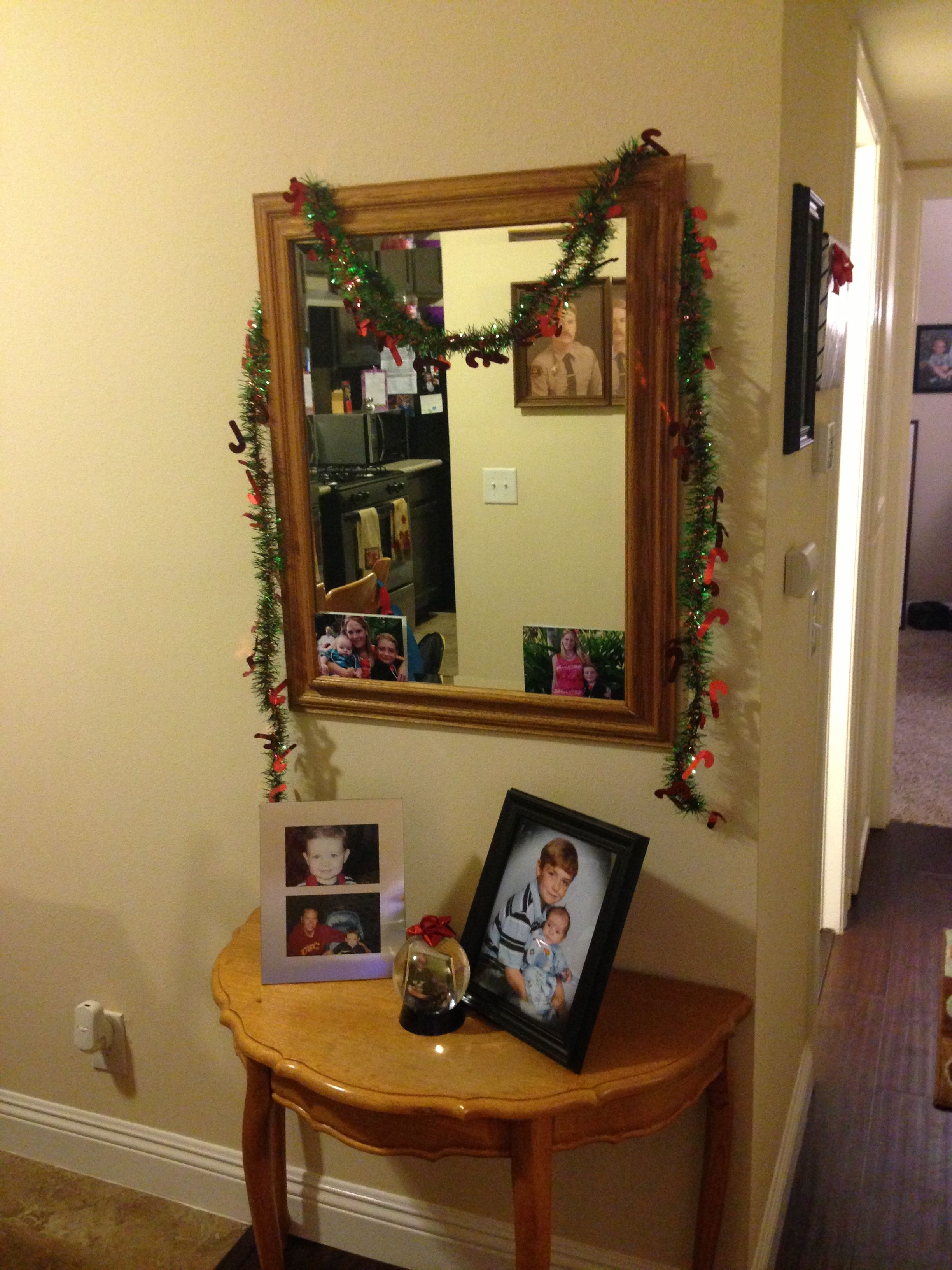 Christmas decorating has commenced