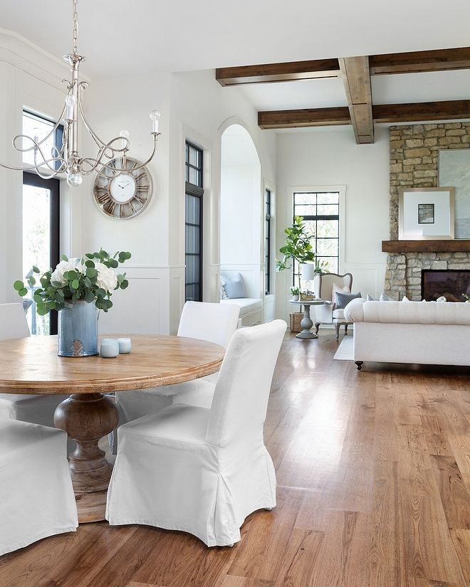 Hickory Plank Hardwood Floors French Country Home With