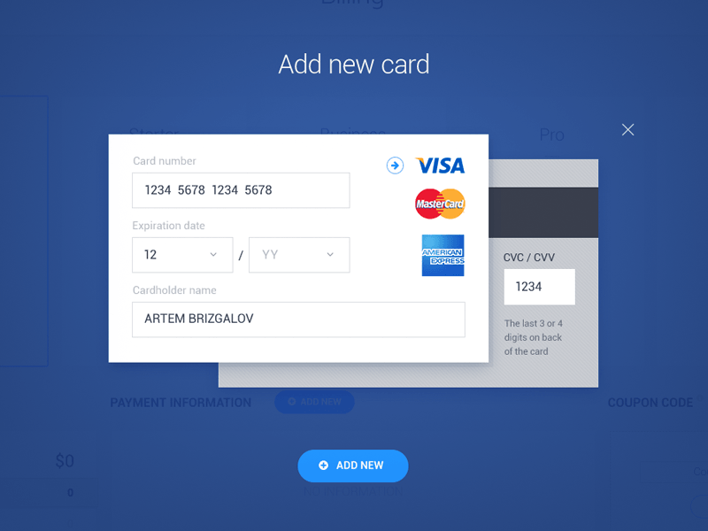 how to add new credit card to airbnb
