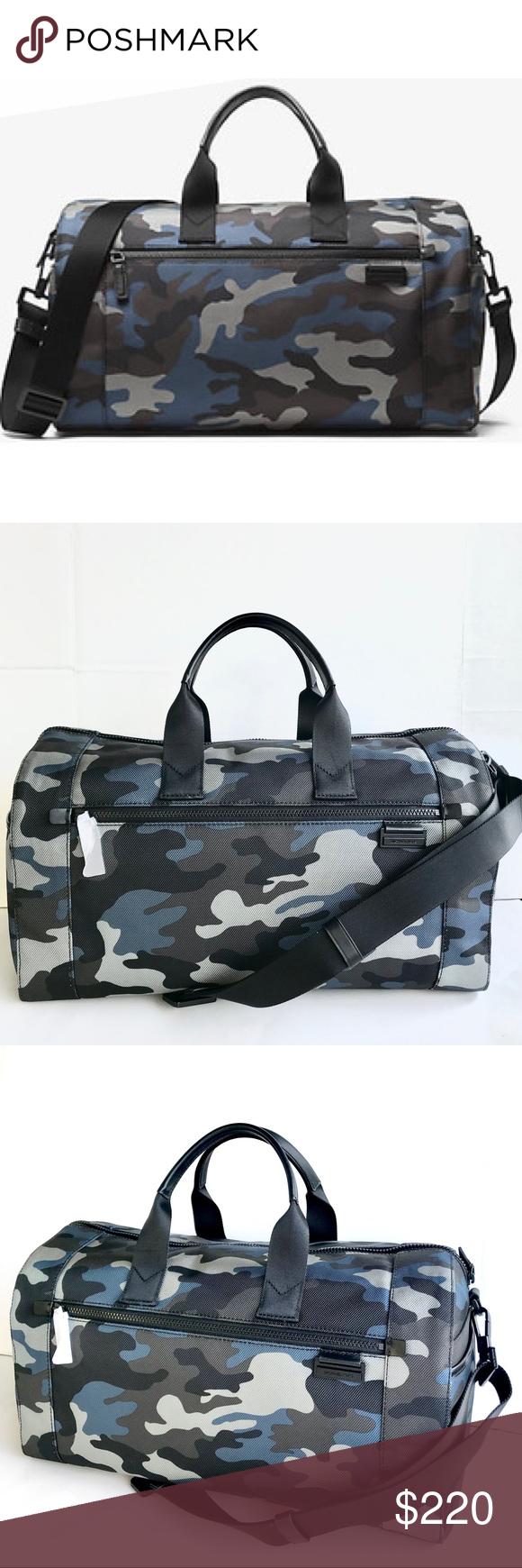 7e4dd1553efc New authentic MK Men s Duffle bag NWT Michael Kors Travis Camouflage Nylon  Duffel Travel Gym Bag