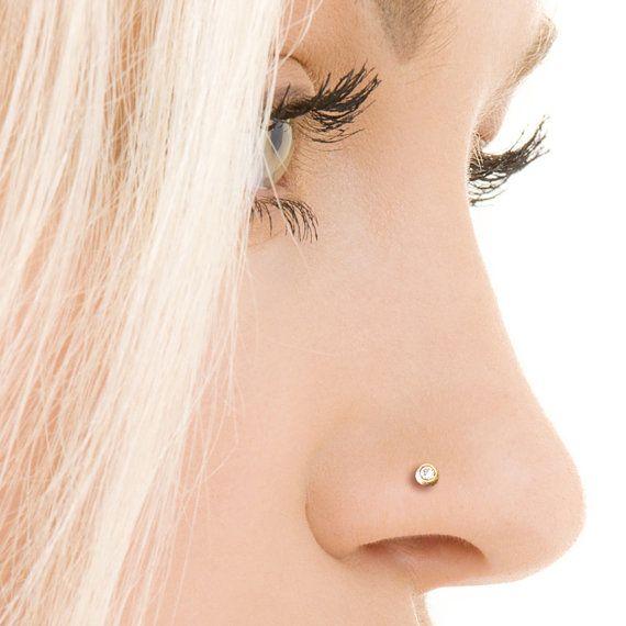 Crystal Nose Stud Silver Nose Stud Tiny Nose Stud Nose