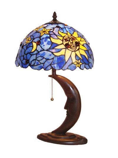 Stained Glass Moon And Sun Lamp Mini Table Lamps Stained Glass Lamps Table Lamp