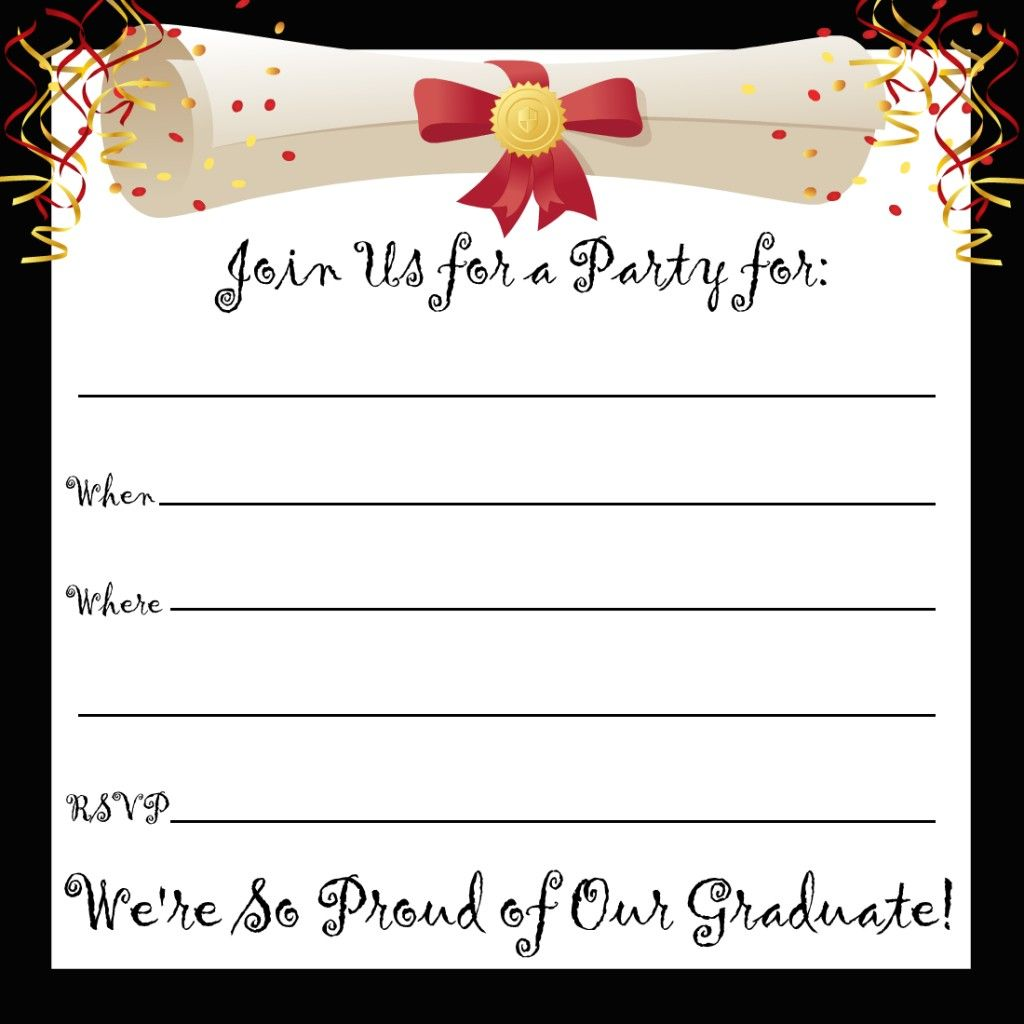 free printable graduation party invitations printables pinterest