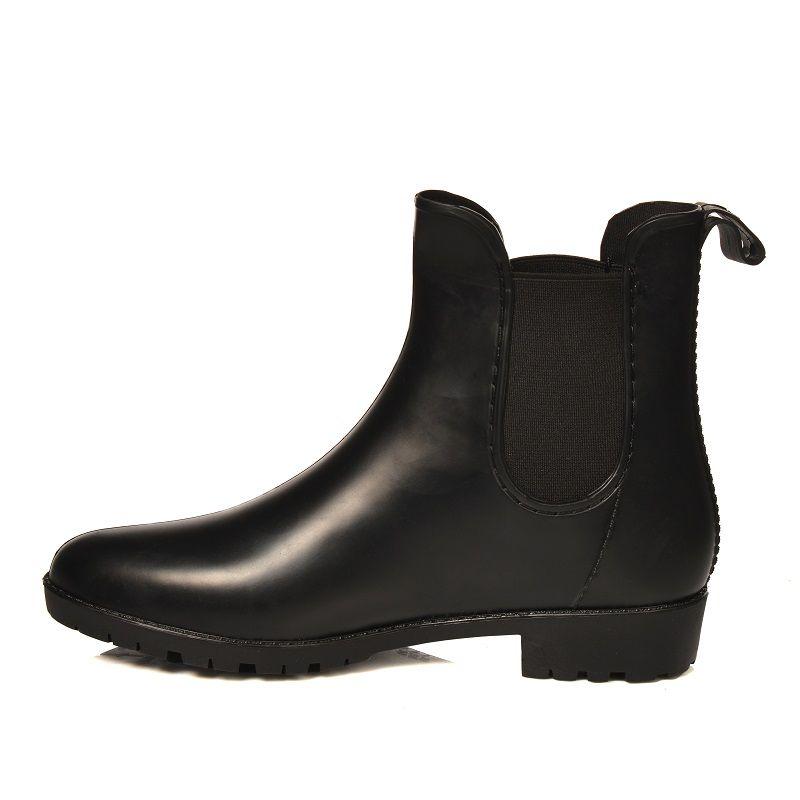 Kalosze Matowe Damskie Sztyblety Botki Guma 36 41 5974820891 Oficjalne Archiwum Allegro Chelsea Boots Boots Shoes