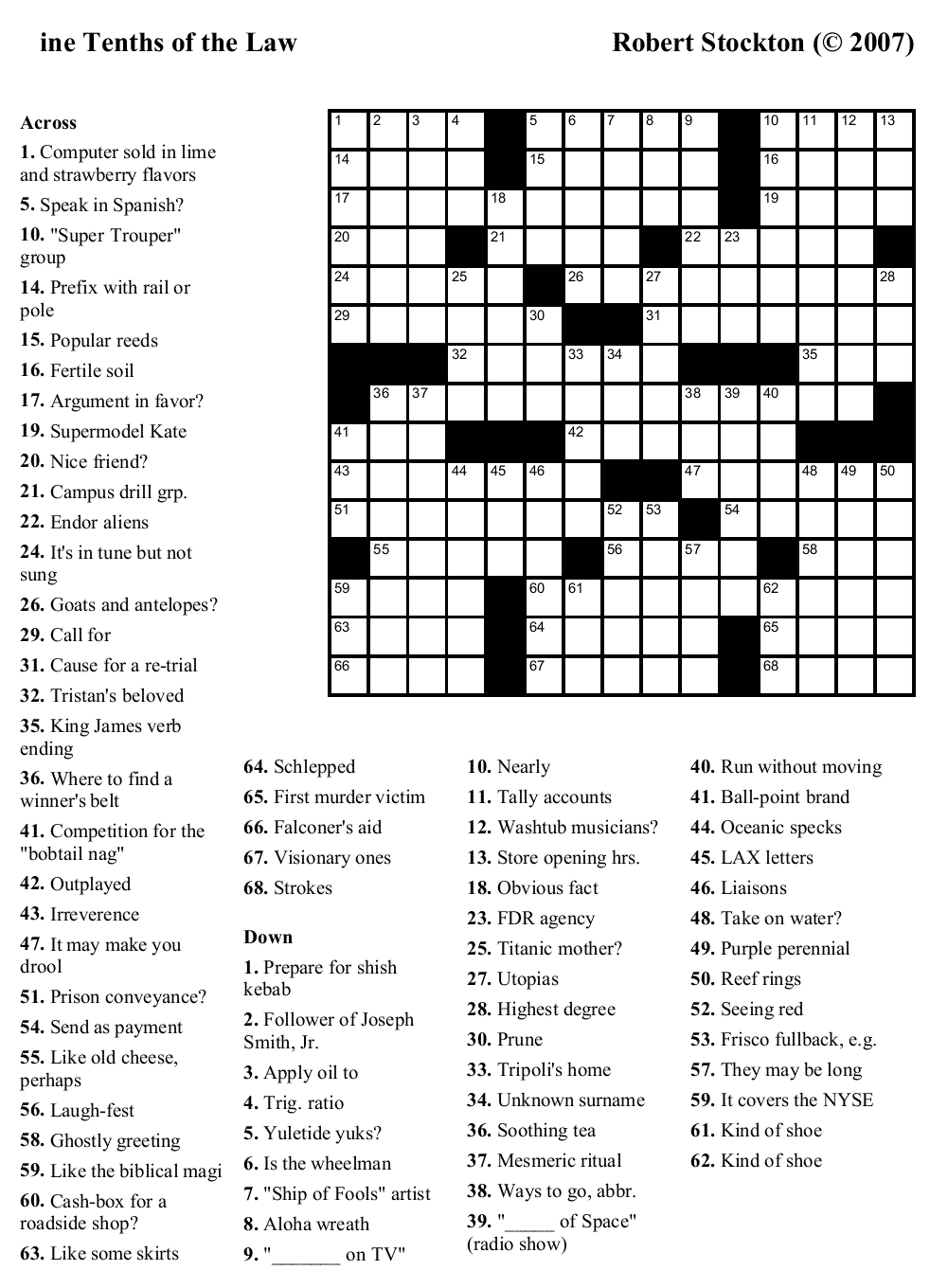 Crossword Puzzles Printable - Yahoo Image Search Results ...