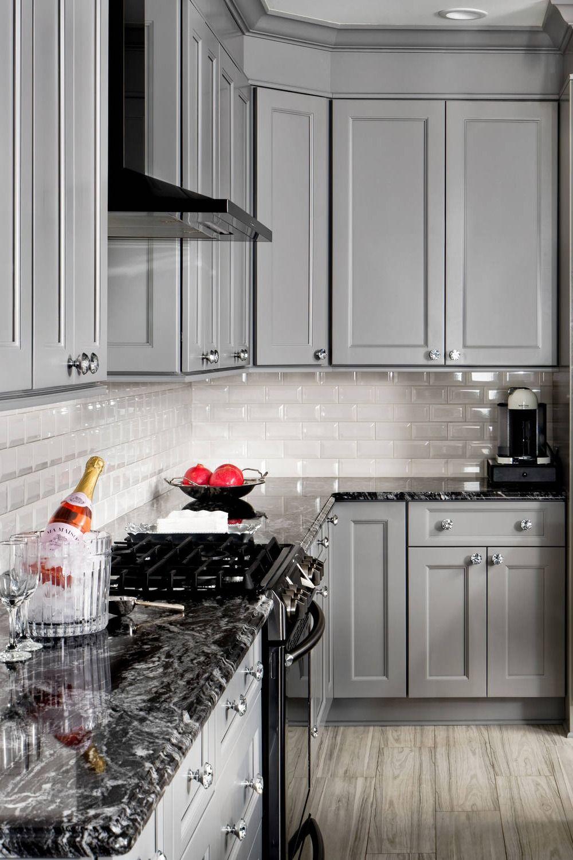 Black Granite Kitchen Countertops Design Ideas