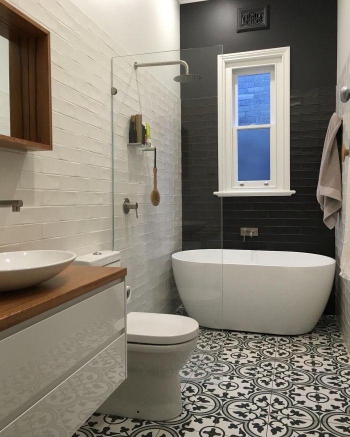 1001 id es pour am nager une salle de bain en carreaux - Carreau de ciment salle de bain ...