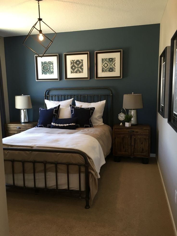 32 mens blue bedroom ideas 29 (With images)   Small master ...