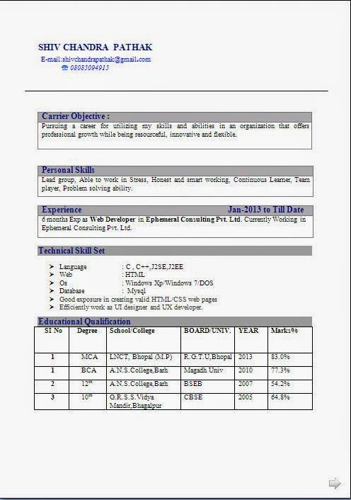 curriculum vitae for students Sample Template Example of Excellent
