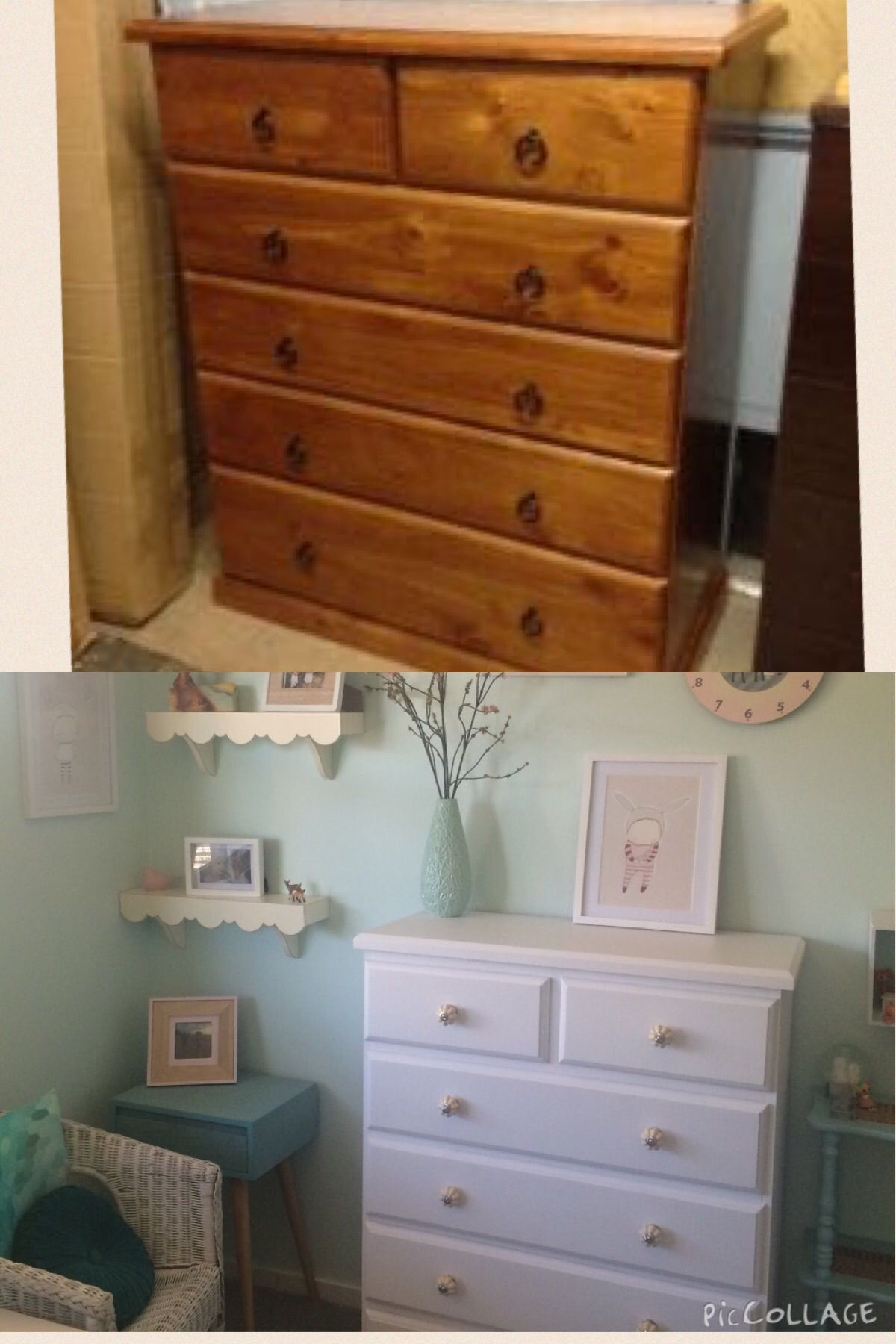 Wooden Drawer Makeover White Paint Tall Boy Chest Dresser Tall White Dresser Tall Boy Drawers Tall Boys