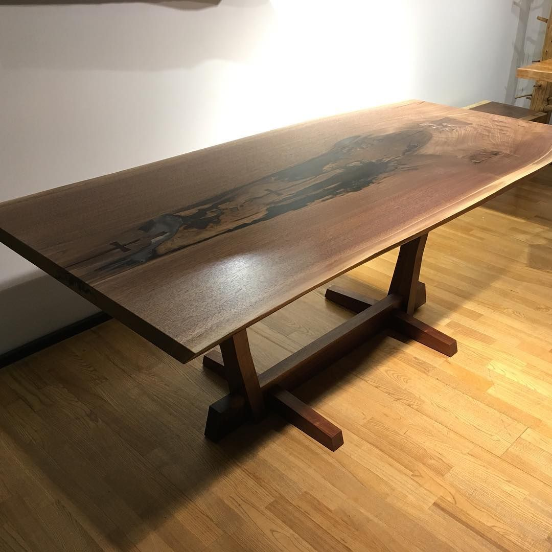 Pin By Matthew Wheeler On Tables Oval Table Dining Dining Table Walnut Kitchen Table