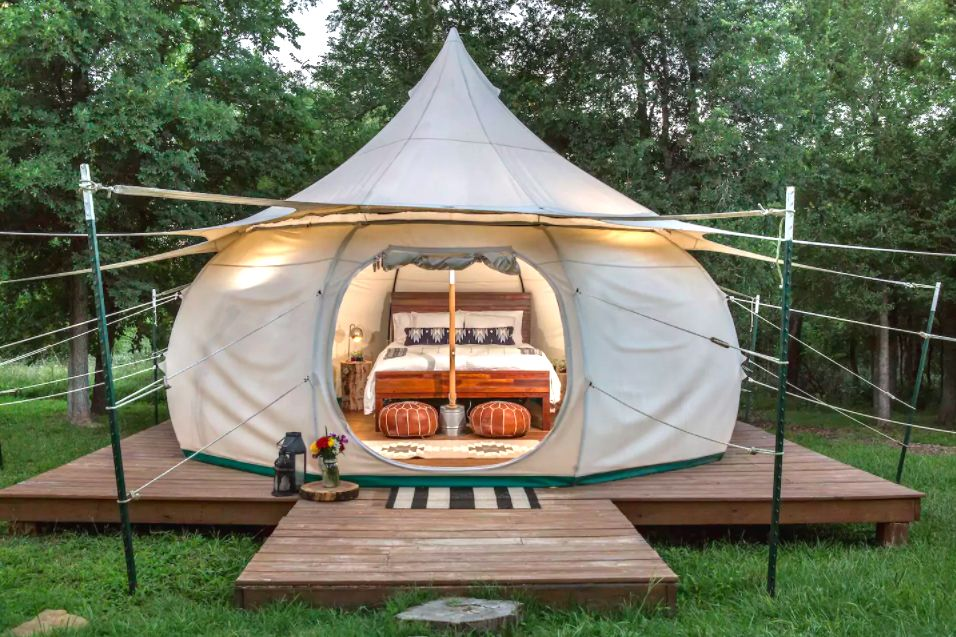 Texas Glamping From 104 A Night—Fire Pits, Stargazing