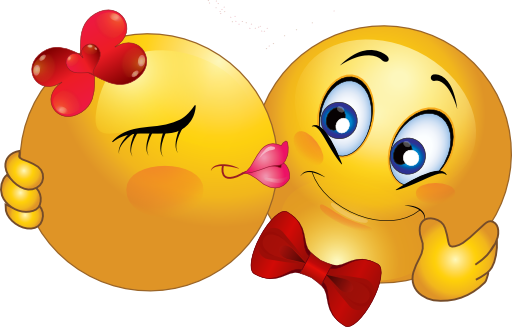 Gros Emoticones Couple Image De Bisous Emoticone Gratuit Emoticone Amour