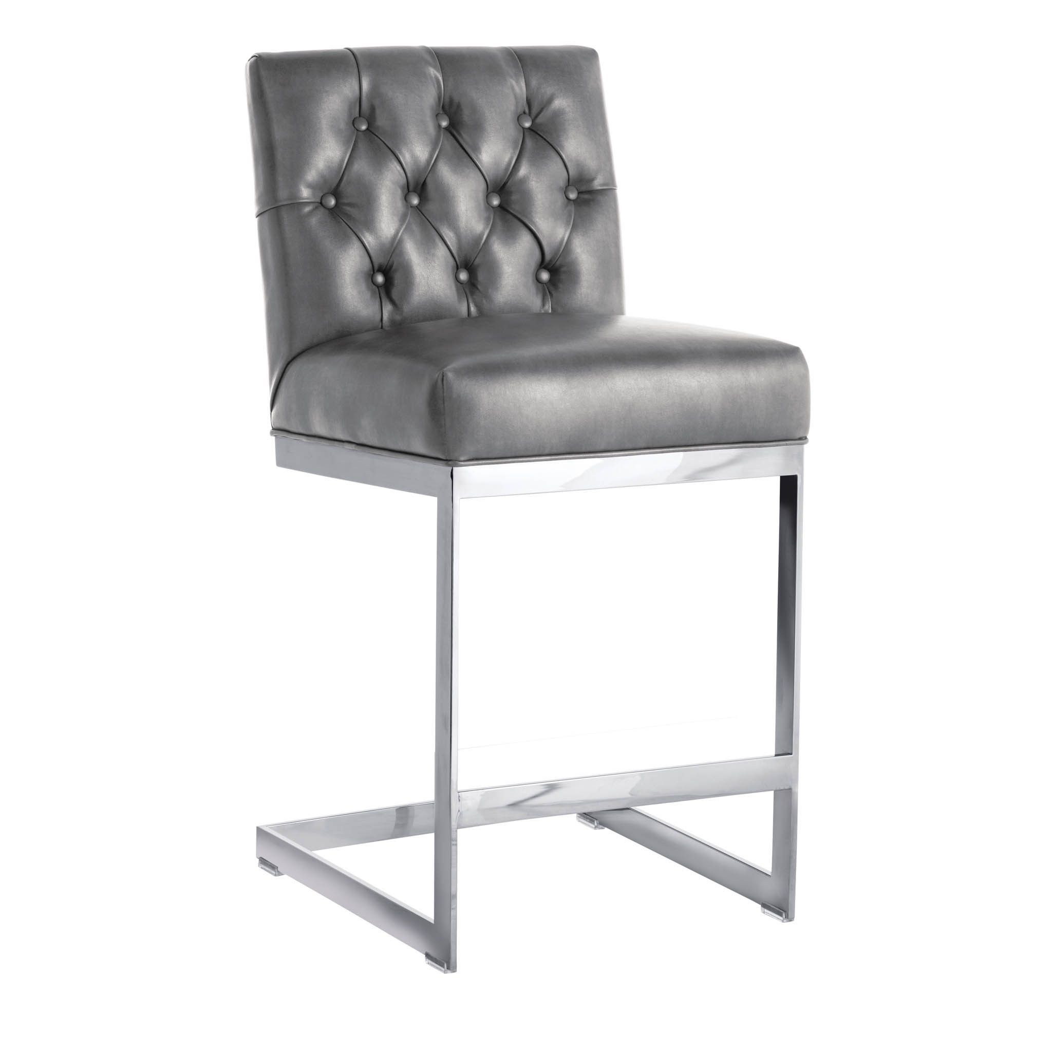 Sunpan Cavalli Grey Nobility Counter Stool Overstock Com Shopping The Best Deals On Bar Stools Leather Counter Stools Furniture Home Decor