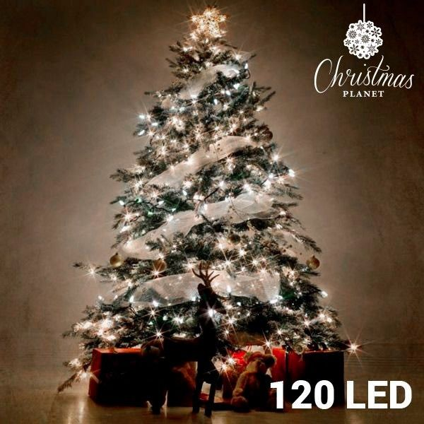 super offer white christmas lights 120 led