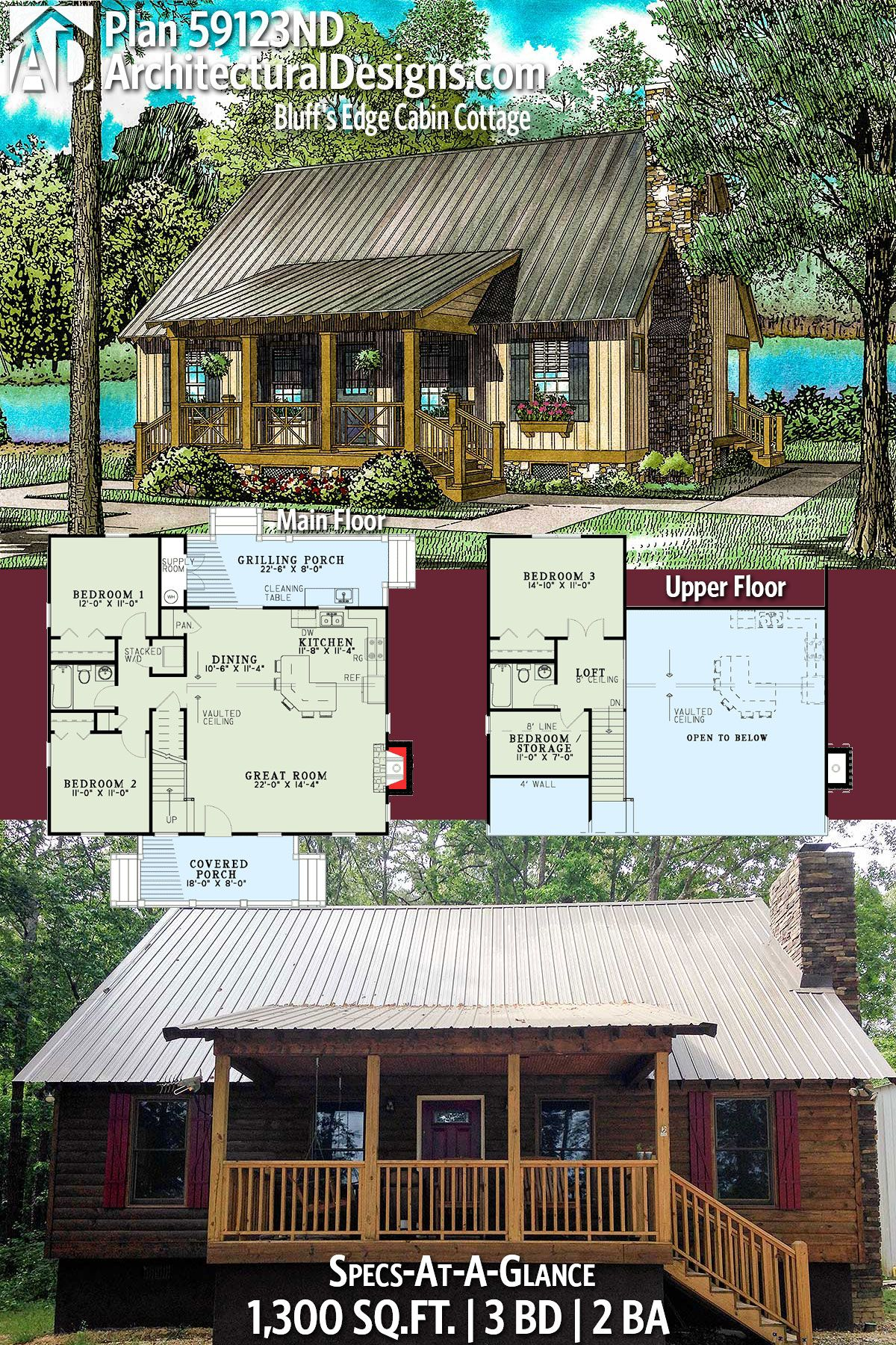 389 Best Cabin images in 2020 | House plans, Small house plans, Cottage plan