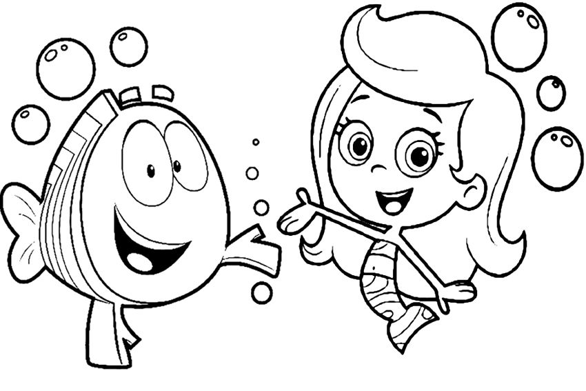Download and Print printable bubble guppies coloring pages | Bubble ...