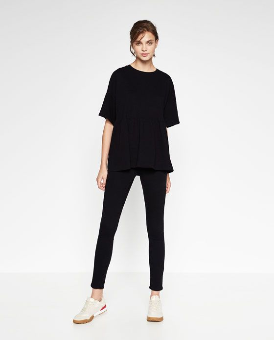 Image 1 of FLOUNCE HEM T-SHIRT from Zara