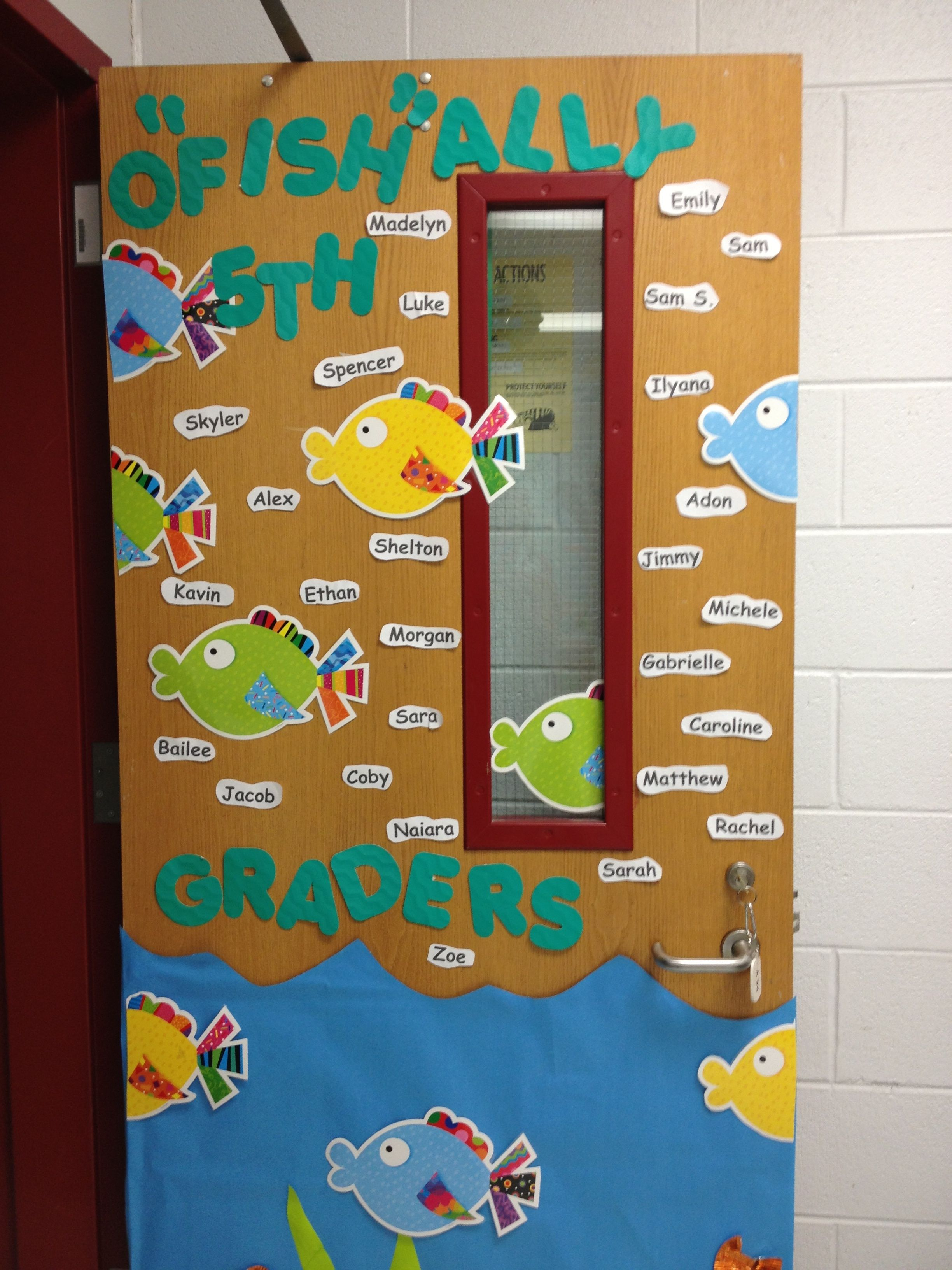 back door! School door decorations, Hallway