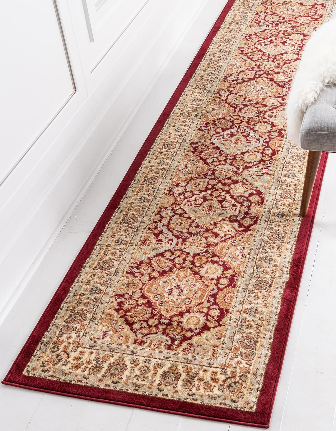 Red Unique Loom 2 7 X 10 Voyage Runner Rug Area Rugs Rugs Com Rug Runner Rugs Area Rugs