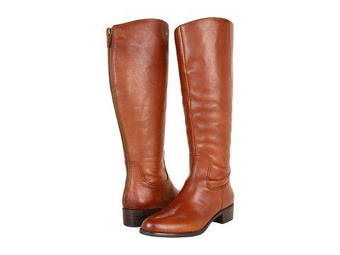 Franco Sarto Crane Wide Shaft Boot Brandy Leather - Zappos.com Free  Shipping BOTH Ways