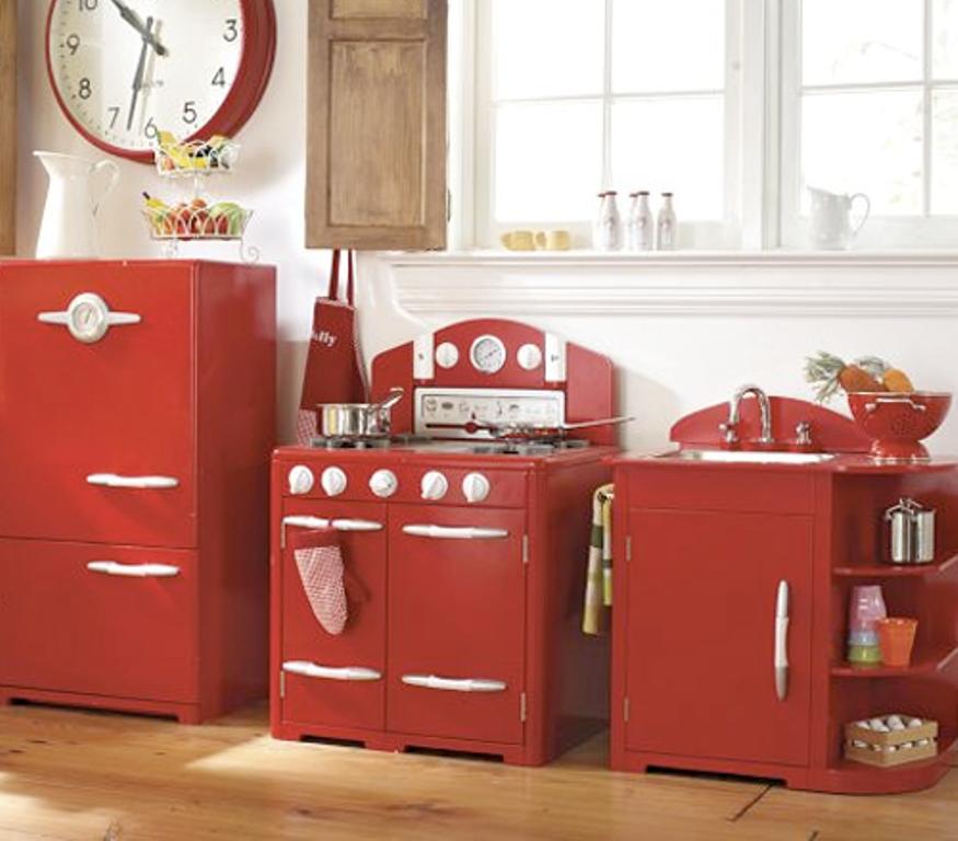 Red Retro Kids Kitchen