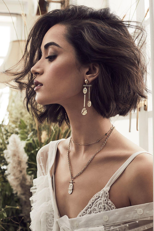 Reverie Earrings, Flutter Necklace