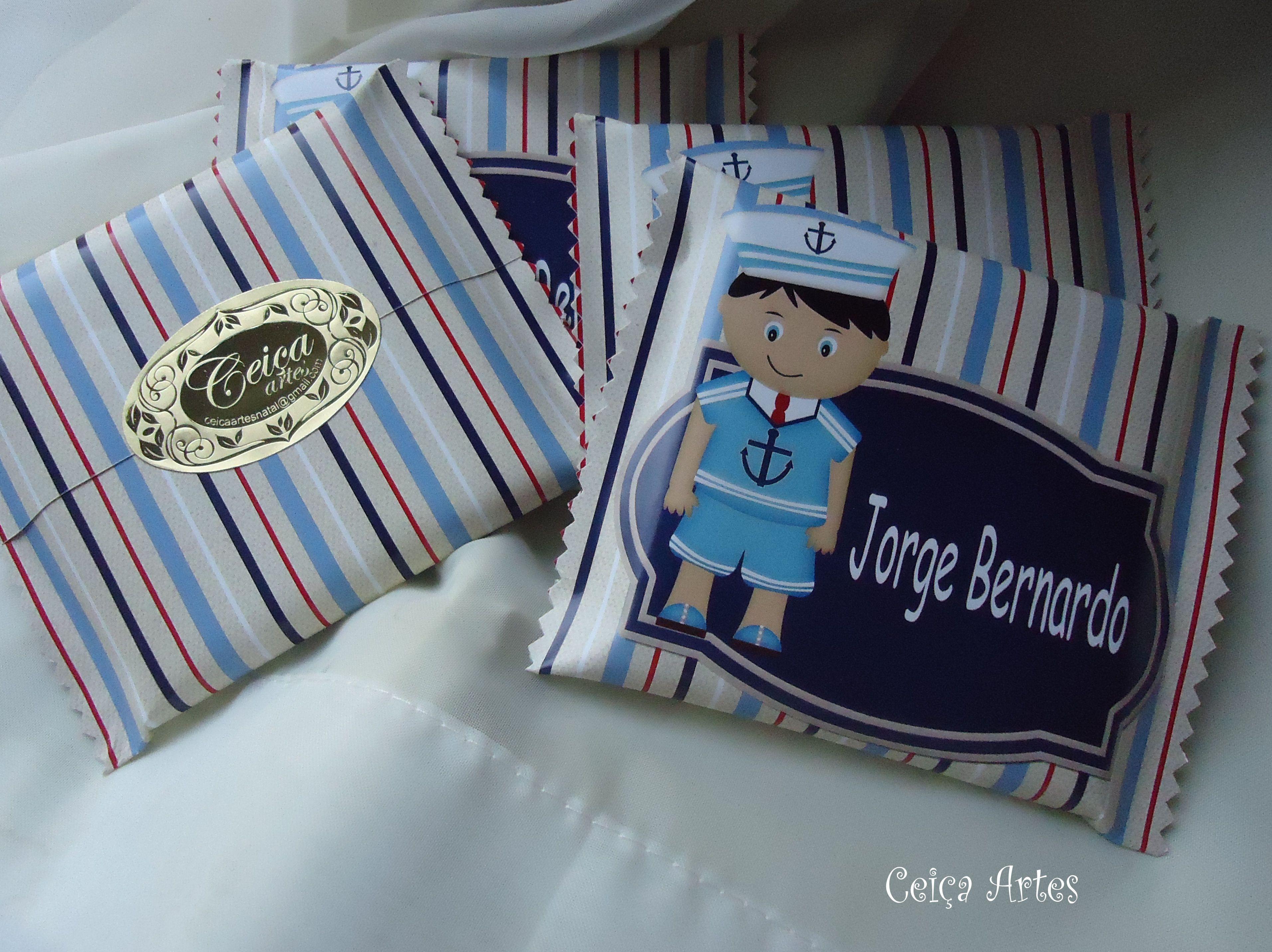 Chocolate personalizado tema marinheiro