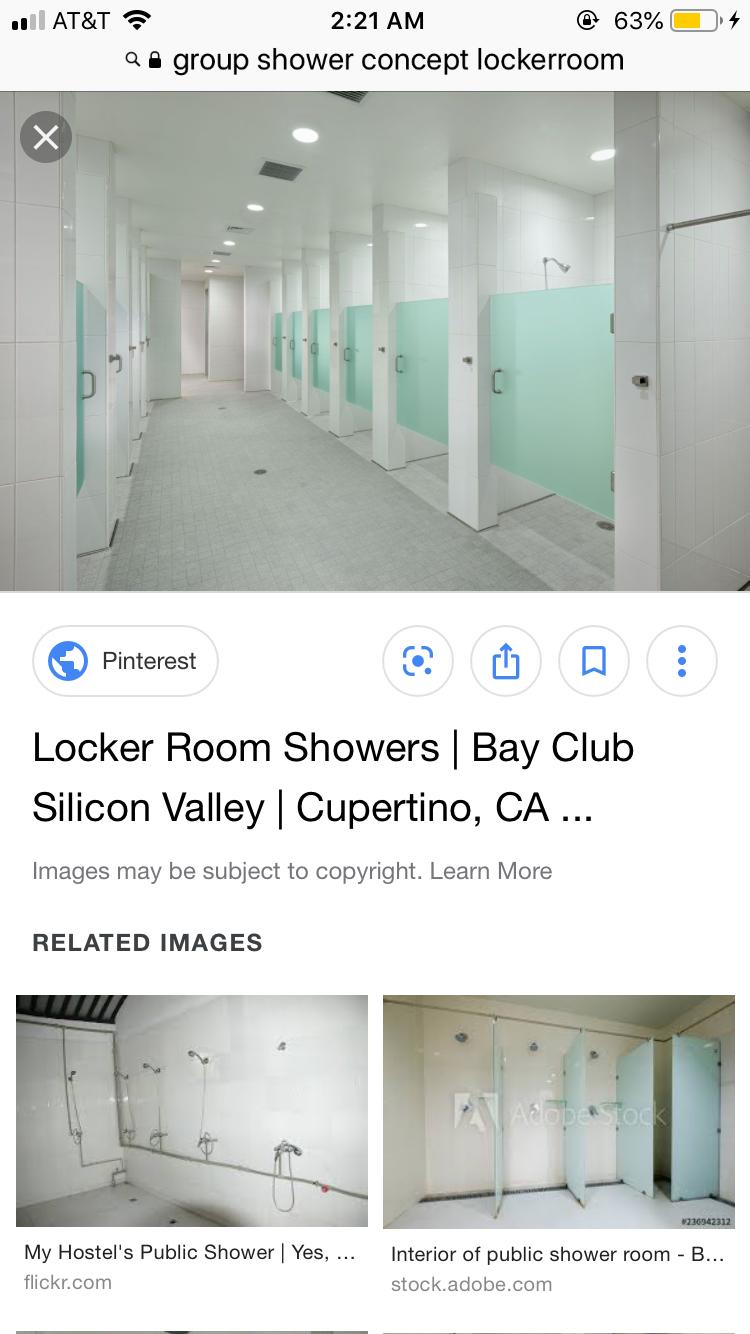 My Dream Image By Cas Dalton Public Shower Shower Room Locker Room