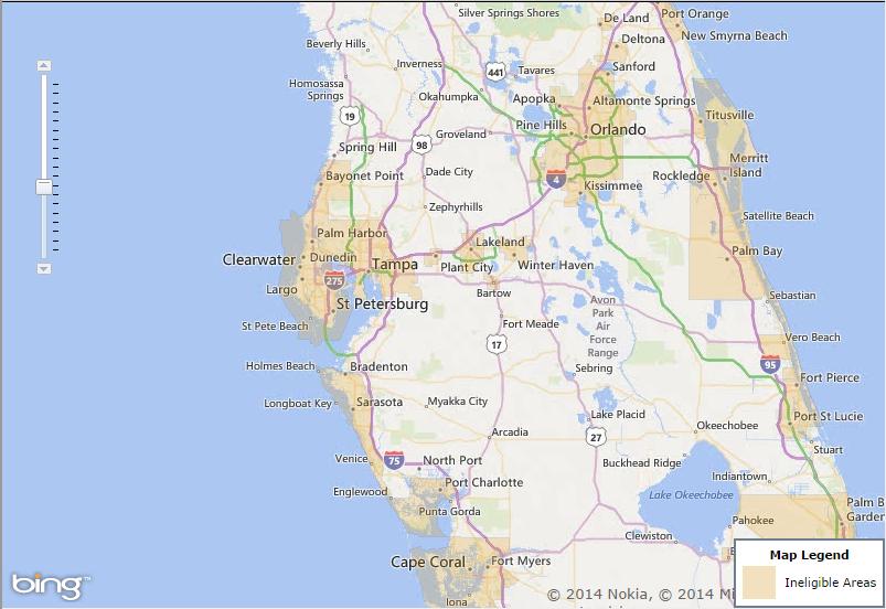 Usda home loans florida map taraba home review for Rural development florida