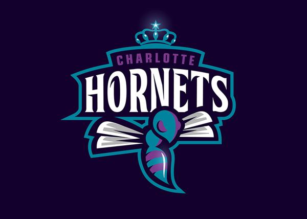 charlotte hornets logo design by dizzyline studio via behance rh pinterest co uk