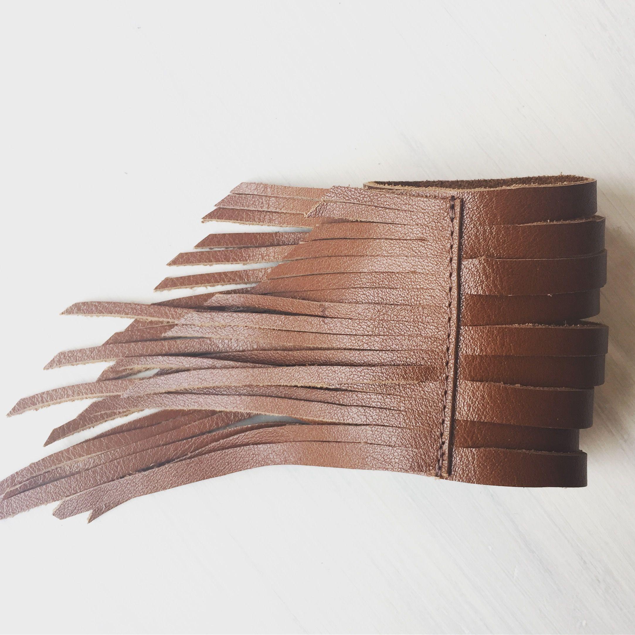 Free Spirit Leather Fringe Cuff