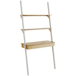 buy habitat jai desk and ladder shelving white at argos co uk rh pinterest com